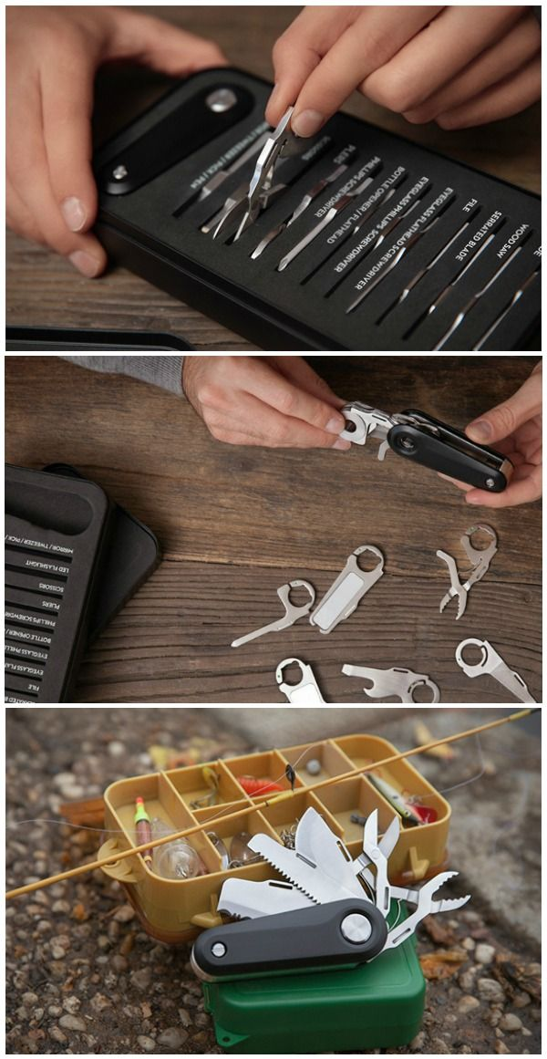 Customize the Switch V2 Modular Pocket Knife from a choice of 12 different attachments offering 16 different functions.