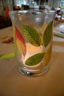 Mod-Podge and Glass Dried Leaf Lanterns. More ideas!