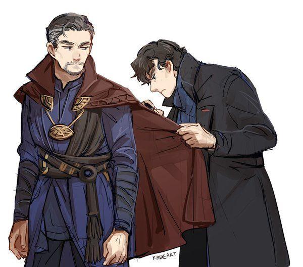 Sherlock investigating Dr Strange