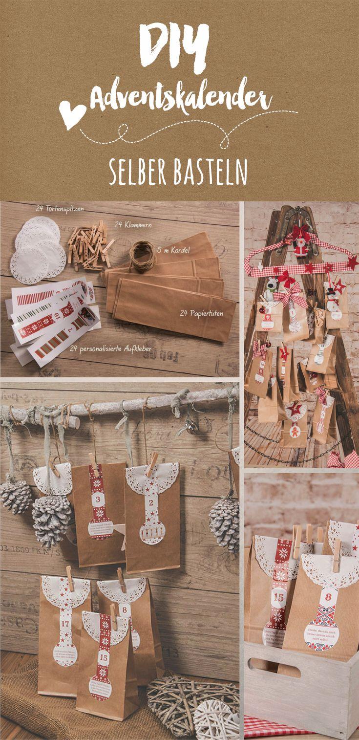 DIY Adventskalender personalisiert mit Fotos und Texten von Personello.com