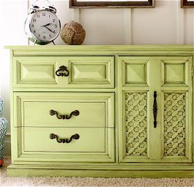 The Yellow Cape Cod: Lime Green Dresser Makeover Tutorial