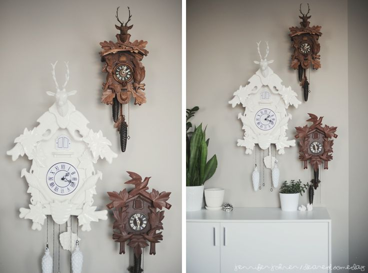 Love this cuckcoo clock collection via dearest someday i decorate wall decor pinterest - Funky cuckoo clock ...