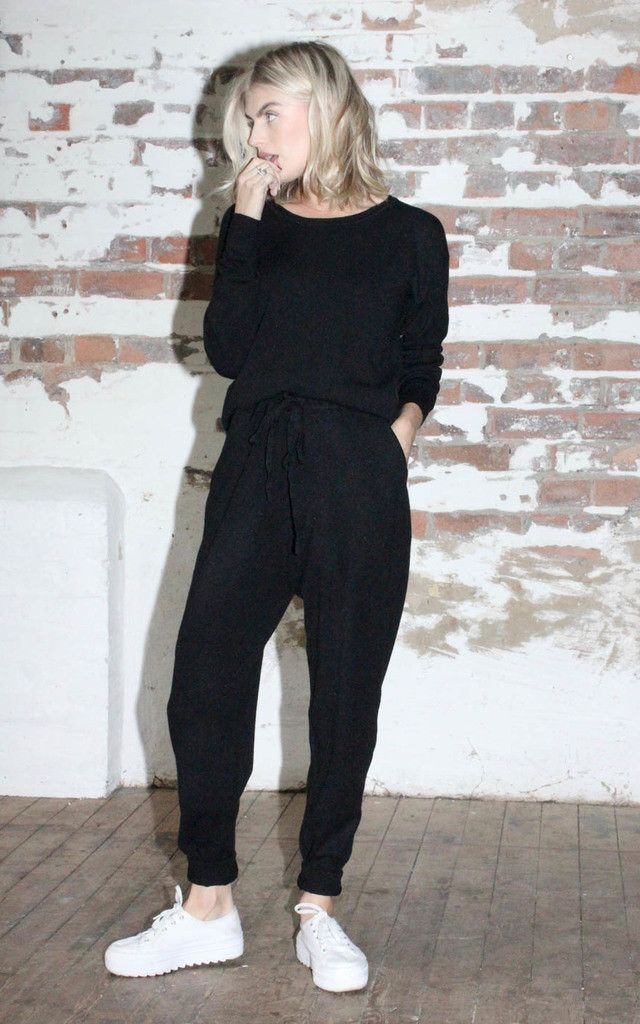 Knit Jumpsuit Black - SilkFred