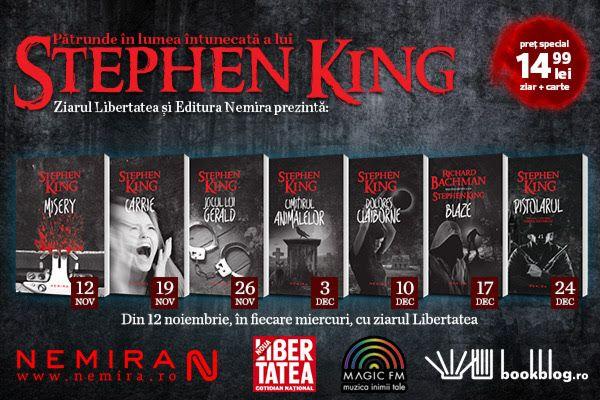 Din 12 noiembrie, Libertatea ne aduce o noua colectie de inserturi: Stephen King