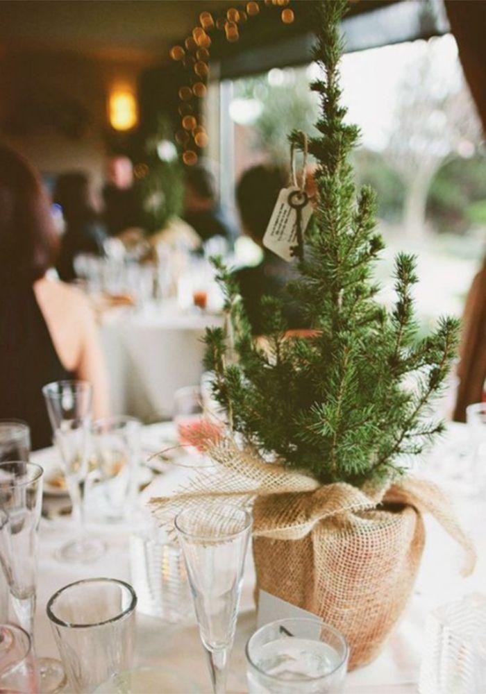 7 Christmas Tree Inspired Winter Wedding Decoration Ideas Winter Wedding Centerpieces Tree Wedding Centerpieces Winter Wedding Table