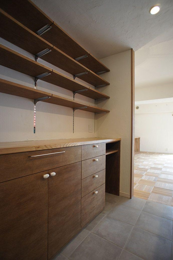 キッチン・カップボード造作家具(杉並区A邸~JELLY~)- キッチン事例