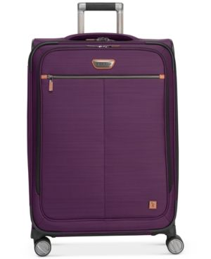 "Ricardo Cabrillo 25"" Softside Spinner Suitcase with Tile Technology Free Gift, Created for Macy's - Purple"