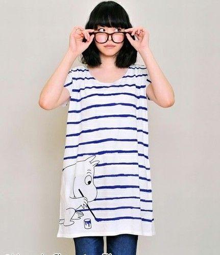 Moomin Round Neck Dress Painting Moomin from Japan New | eBay