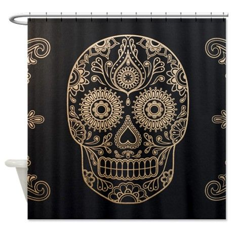 Sugar Skull Shower Curtain On CafePress.com