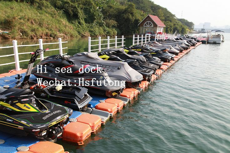 One row jet ski dock