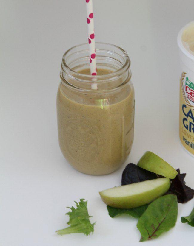 Mango Carrot Green Protein Smoothie