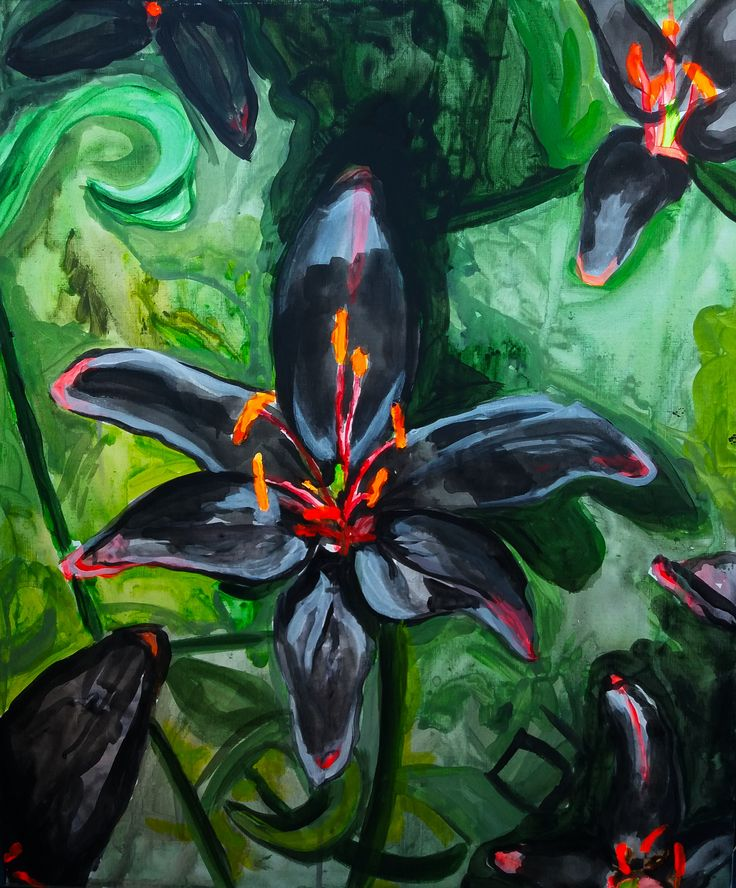 Black Lily Acrylic on Canvas 2016
