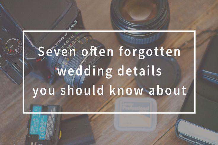 Seven Often Forgotten Wedding Details You Should Know About Details Forgotten Forgottenw Details Forgotten Forgottenw In 2020 Wedding Details Wedding Forget