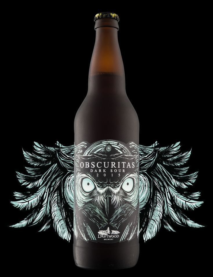 "Now THIS is some seriously intense design work! The Hired Guns Creative  team has delivered another ""stop in your tracks"" beer branding and  packaging design for Driftwood Brewery's new Obscuritas Dark Sour brew."