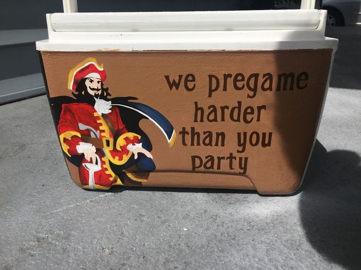 We pregame harder than you party captain Morgan painted fraternity cooler