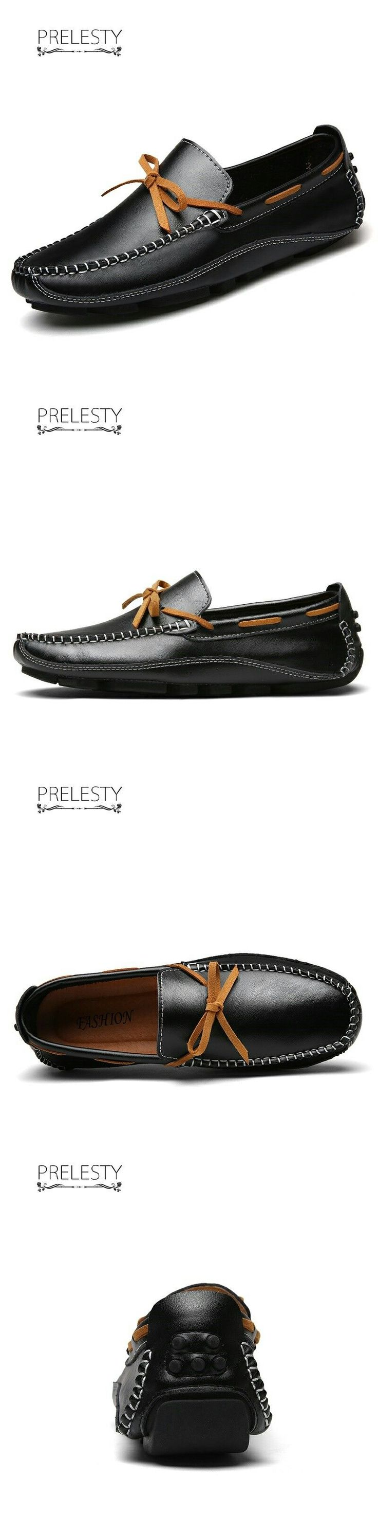 US $ Prelesty Natural Leather Boat Shoes Mens Top Sider Driving Shoes - http://sorihe.com/mensshoes/2018/03/04/us-prelesty-natural-leather-boat-shoes-mens-top-sider-driving-shoes/