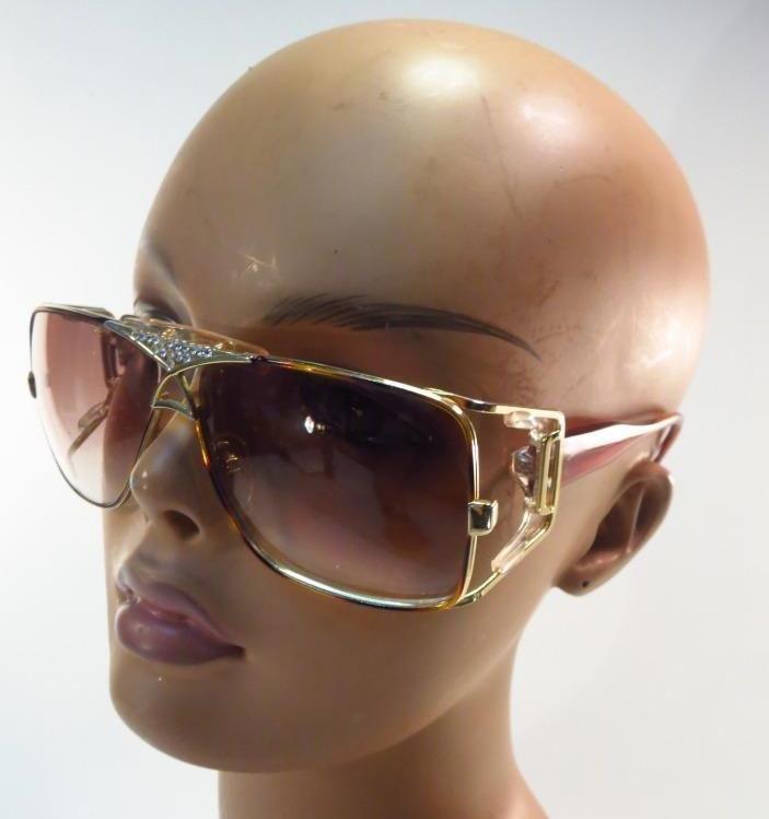 f854fe0683 RARE Cazal 955 Crystal Rhinestone Bronze Sunglasses    CAZAL ...