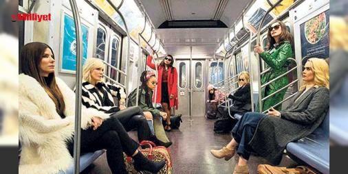 Kadınların dünyasından ilk fotoğraf!: Kadrosunda başarılı oyuncu Sandra Bullock, ödüllü oyuncu Cate Blanchett, Batman'in Kedi Kadın'ı Anne Hathaway, fantastik yapımların aranan ismi Helena Bonham Carter, American Horror Story'nin başarılı yıldızı Sarah Paulson, Mindy Project'in yıldızı Mindy Kaling, Amerikalı şarkıcı Awkwafina ve Hollyw...