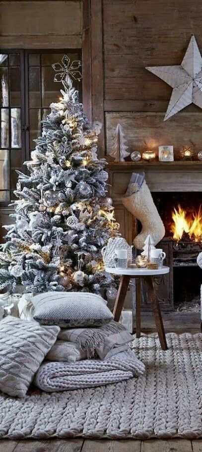 Love the frosted tree.