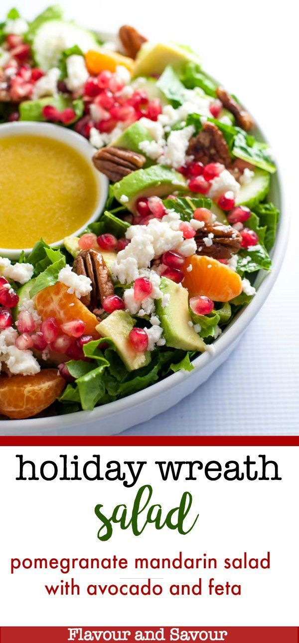Pomegranate Mandarin Salad With Avocado And Feta Recipe Holidays