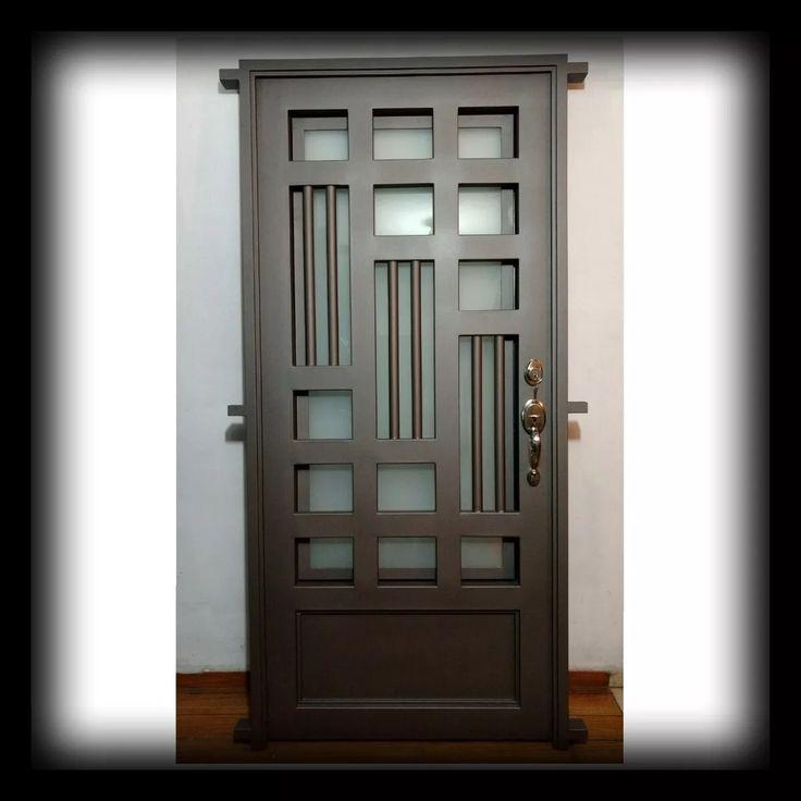 Rejillas puertas de hierro puertas puertas principales y puertas principales de forja - Puertas de entrada de segunda mano ...