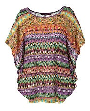null (Multi Col) Inspire Purple Aztec Batwing Top | 249620799 | New Look