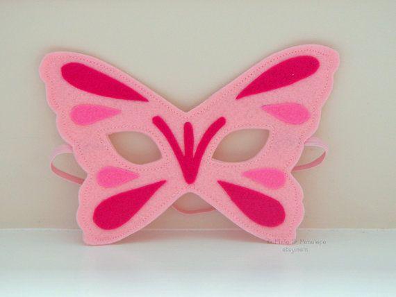 READY TO SHIP Butterfly Mask Felt Mask by pixieandpenelope on Etsy