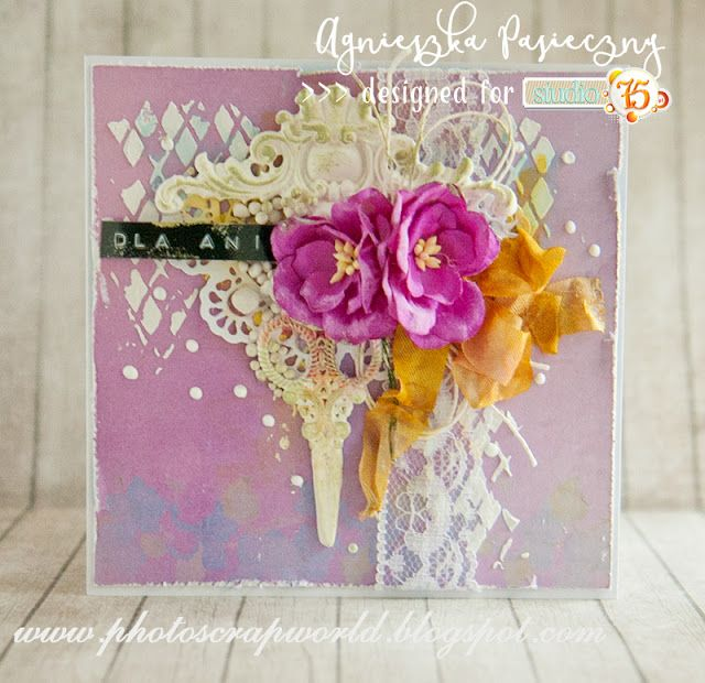 Lovely lavenerd card made with Lavender Morning collection. cardmaking, scrapbooking, kartka, handmadecards