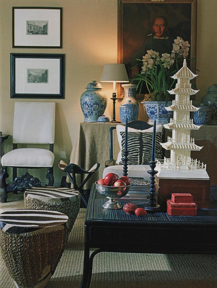Pagoda and art - Mary McDonald