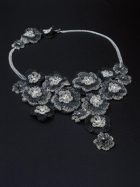 Unique Floral Mysticus Necklace by Jewellery Designer Tytti Lindström