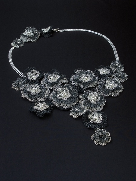Unique Floral Mysticus Necklace by Jewellery Designer Tytti Lindström