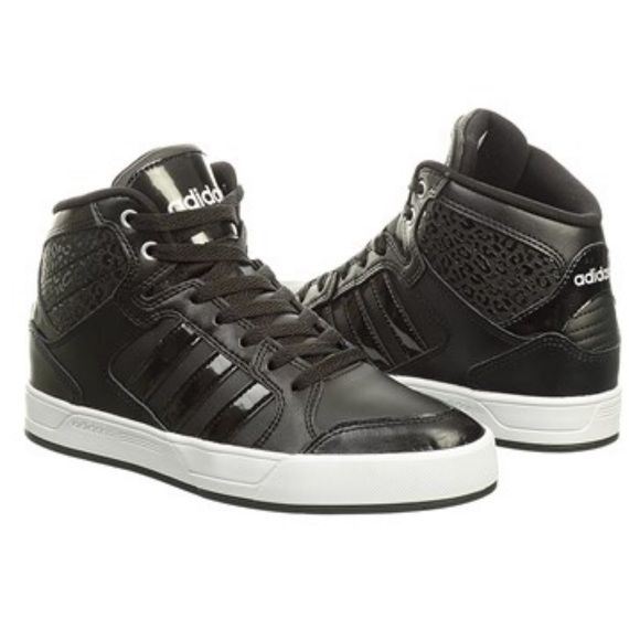 Adidas Neo Raleigh High top Sneaker Worn only a couple of times... Love them, but fit a tad bit too big:( Adidas Shoes Sneakers