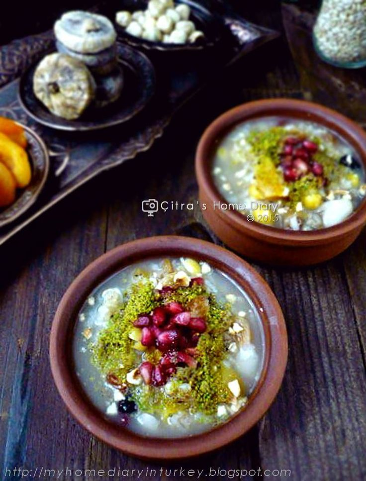 Citra's Home Diary: Aşure/ Ashure tarifi (Turkish mix fruits, grains and nut dessert for special occasion Aşure day)