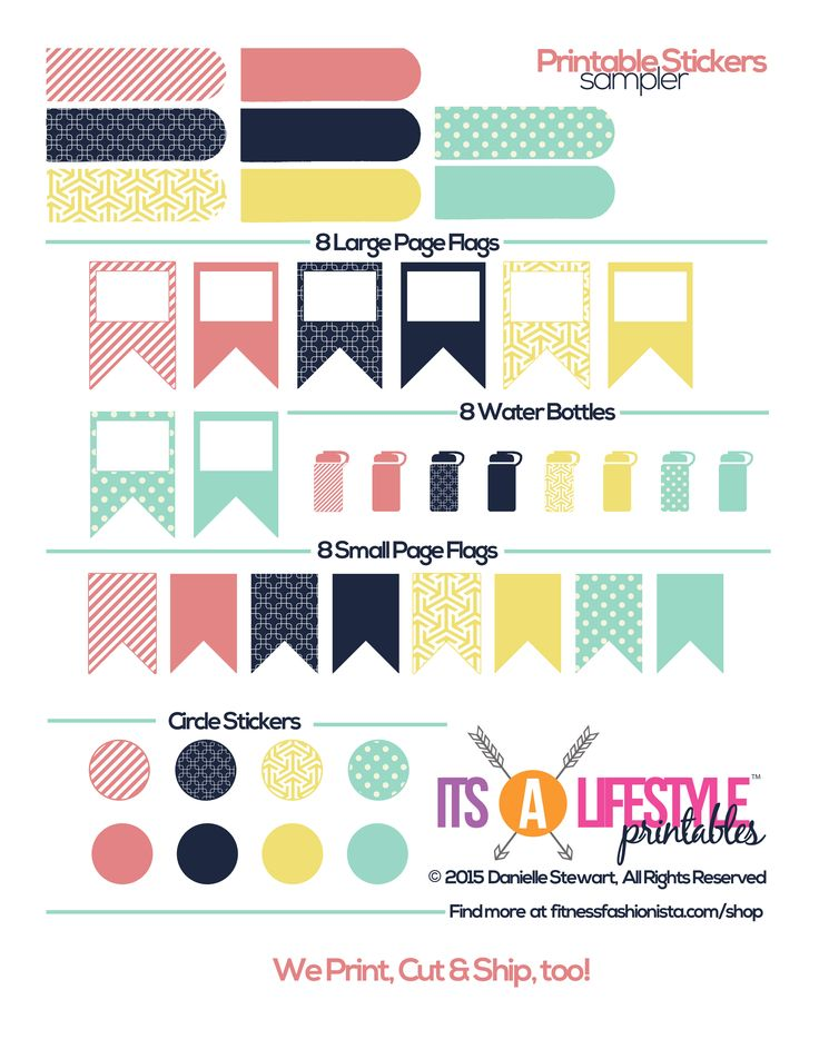 Free Printable Stickers Sampler