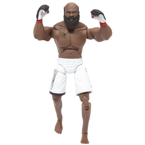 """Deluxe UFC Figures #4 Kimbo Slice by UFC. $10.50. 30 unique points of articulation. Deluxe 7"""" action figure. Highly detailed decoration matches the fighter?s apparel from specific UFC events. Play or collect. From the Manufacturer                Official UFC deluxe 7"""" Kimbo Slice figure.                                    Product Description                The deluxe UFC Kimbo Slice action figure is made by Jakks for the world's top MMA fight organization. It's part of Wave ..."""