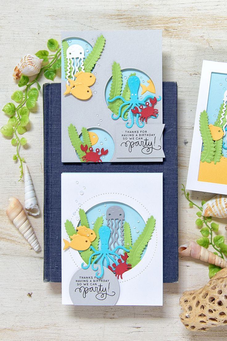 192 Best Under The Sea Cards Images On Pinterest Anniversary Cards