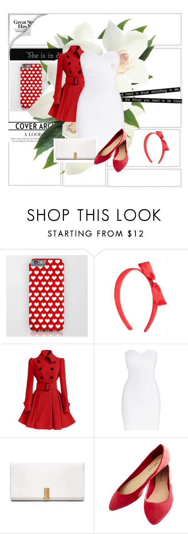 """""""Red and white"""" by pipsqueak24 on Polyvore featuring Hervé Léger, Calvin Klein, Wet Seal, Friend of Mine, women's clothing, women's fashion, women, female, woman and misses"""