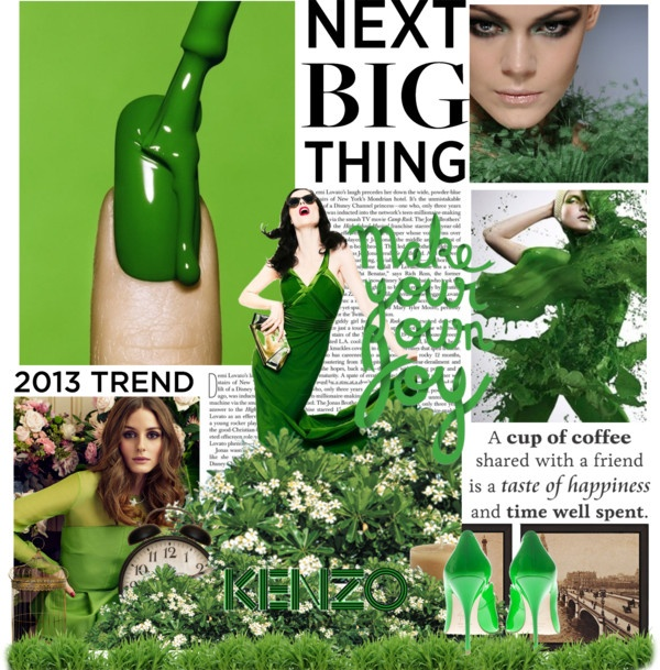 """Fashion Feng Shui ® - Green Growth by Natascha Annett Coco Jensen"" by cocodesign-1 on Polyvore"