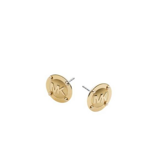 Cheap MK Store & MICHAEL KORS Logo Button Gold-Tone Earrings