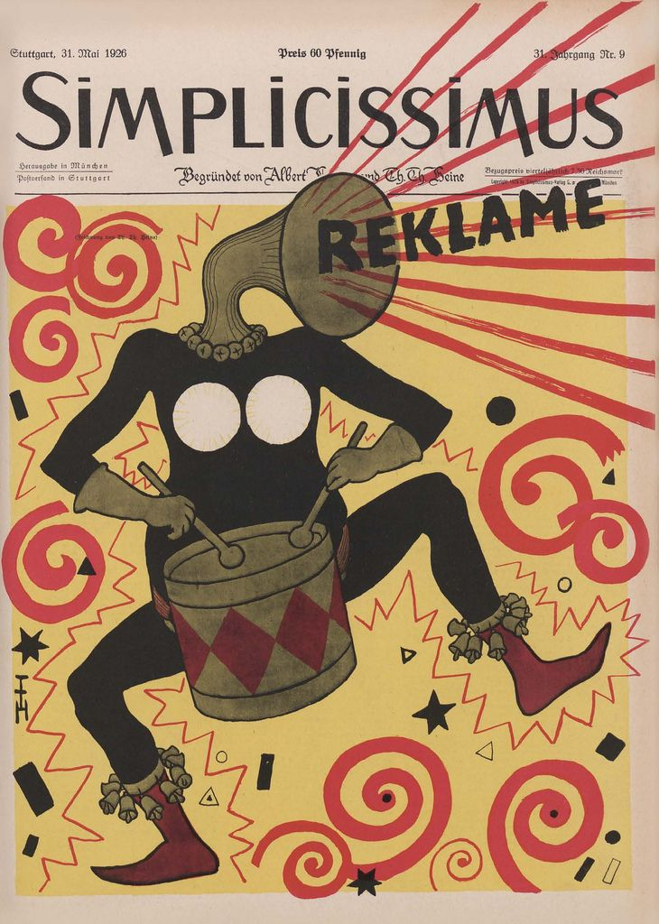 cover of simplicissimus (german political satire magazine), 1926