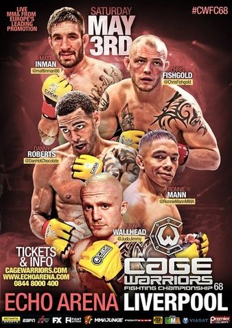 Cage Warriors 68: Roberts vs. Wallhead Results