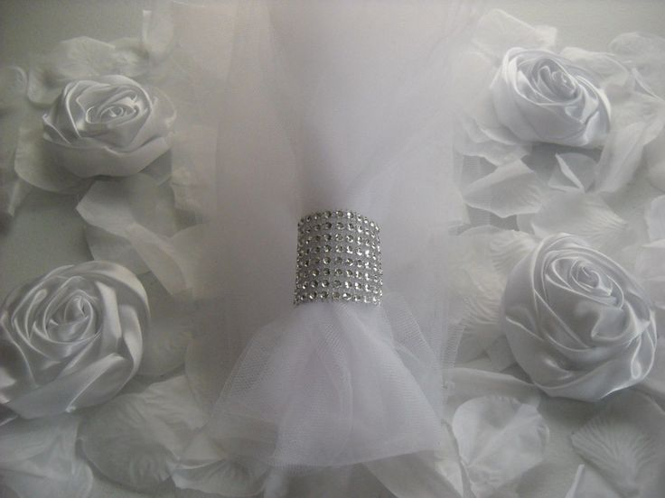 500 Silver Wedding Napkin Rings Holder Or Chair Sash Closure 8 Row