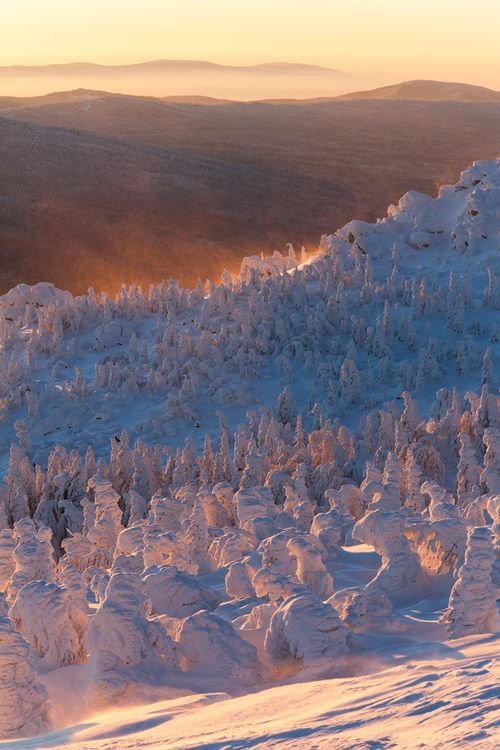 Touchdisky national park taganay ural mountain. Russia