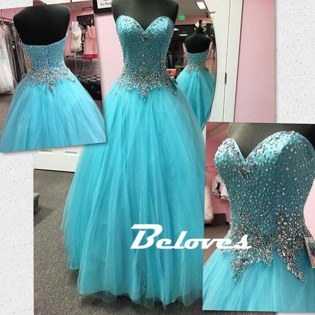 Prom Dress, Blue Dress, Blue Prom Dress, Beaded Dress, Sky Blue Dress, Sweetheart Dress, Dress Prom, Ball Dress, Dress Blue, Sky Dress, Ball Gown Dress, Gown Dress