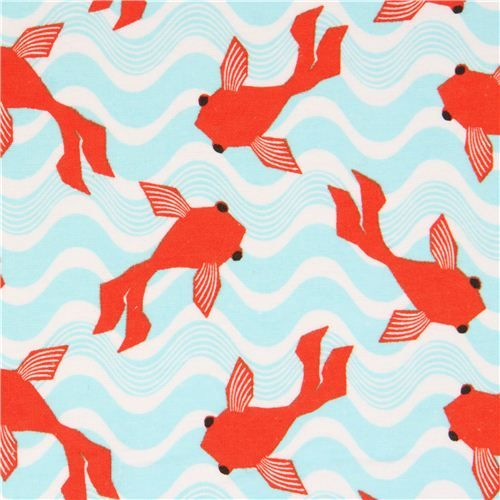 125 best mcm fabric images on pinterest color palettes for Koi fish print fabric