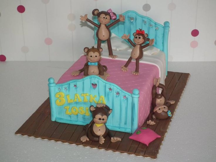 Tort Pięć małych małpek/ Five little monkeys cake
