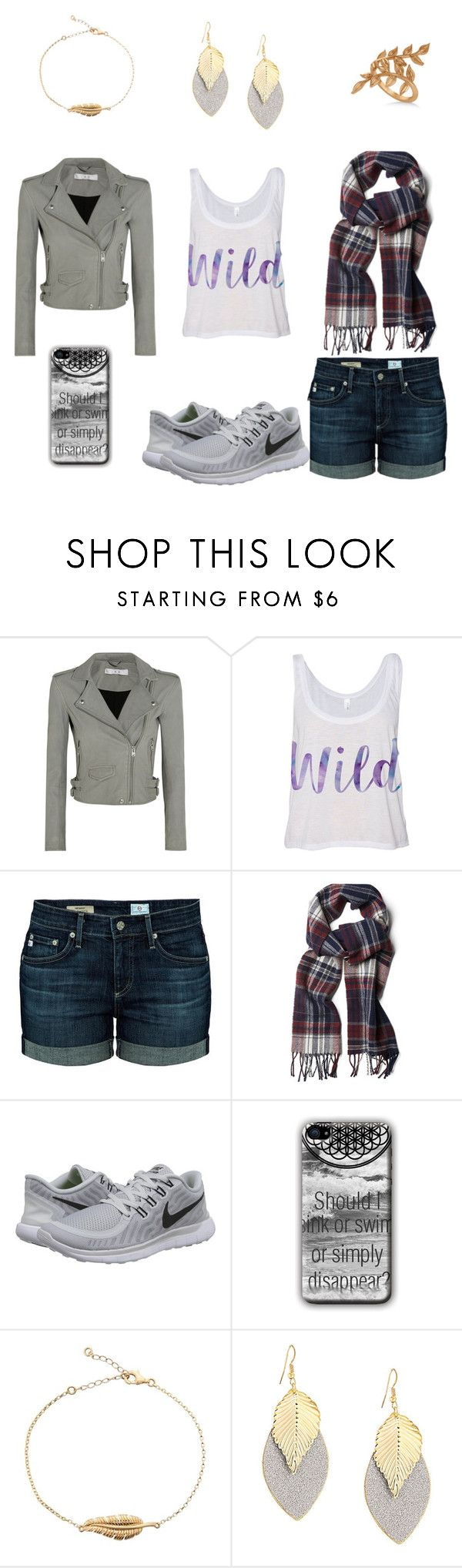 """""""Summer to fall"""" by yyyyyx ❤ liked on Polyvore featuring IRO, AG Adriano Goldschmied, GANT, NIKE and Allurez"""