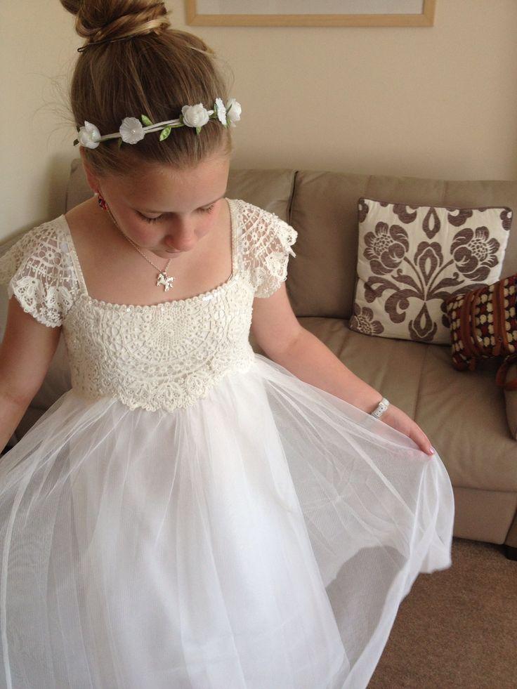 My gorgeous little sister in her monsoon flower girl dress. #flowergirl
