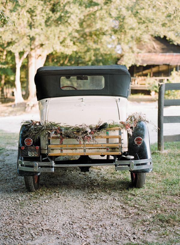 car garland | Ali Harper #wedding