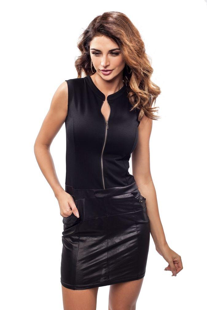 Elektryzująca czarna sukienka